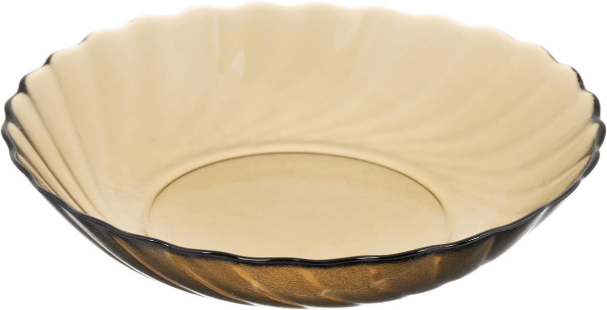 Тарелка глубокая Luminarc Ocean Eclipse, диаметр 20,5 смH0245Глубокая тарелка Luminarc Ocean Eclipse выполнена из ударопрочного стекла и оформлена рельефом. Изделие сочетает в себе изысканный дизайн с максимальной функциональностью. Она прекрасно впишется в интерьер вашей кухни и станет достойным дополнением к кухонному инвентарю. Тарелка Luminarc Ocean Eclipse подчеркнет прекрасный вкус хозяйки и станет отличным подарком. Можно использовать в микроволновой печи и холодильнике, а также мыть в посудомоечной машине. Диаметр тарелки: 20,5 см.