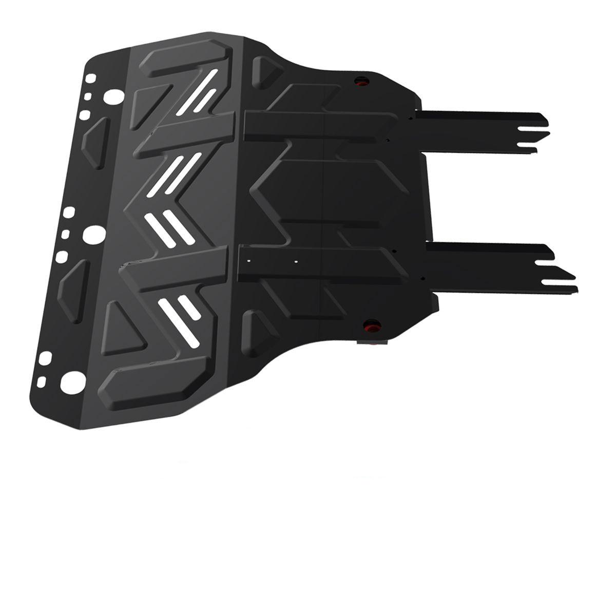 Защита картера и КПП Автоброня, для Ford Focus II/Focus III (2011-)/Grand C-Max/Ford Kuga/Ford С-Max V-все111.01850.1Технологически совершенный продукт за невысокую стоимость. Защита разработана с учетом особенностей днища автомобиля, что позволяет сохранить дорожный просвет с минимальным изменением. Защита устанавливается в штатные места кузова автомобиля. Глубокий штамп обеспечивает до двух раз больше жесткости в сравнении с обычной защитой той же толщины. Проштампованные ребра жесткости препятствуют деформации защиты при ударах. Тепловой зазор и вентиляционные отверстия обеспечивают сохранение температурного режима двигателя в норме. Скрытый крепеж предотвращает срыв крепежных элементов при наезде на препятствие. Шумопоглощающие резиновые элементы обеспечивают комфортную езду без вибраций и скрежета металла, а съемные лючки для слива масла и замены фильтра - экономию средств и время. Конструкция изделия не влияет на пассивную безопасность автомобиля (при ударе защита не воздействует на деформационные зоны кузова). Со штатным крепежом. В комплекте инструкция по...