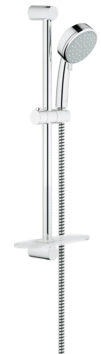Душевой гарнитур с полочкой GROHE Tempesta Cosmopolitan (ручной душ, штанга 600 мм, шланг 1750 мм) (27928001)27928001состоит из ручной душ (27 571 001) душевая штанга, 600 мм (27 521 000) душевой шланг Relexaflex 1750 мм 1/2 x 1/2 (28 154 000) Полочка GROHE EasyReach™ (27 596 000) GROHE DreamSpray® превосходный поток воды GROHE StarLight® хромированная поверхность с системой SpeedClean против известковых отложений Внутренний охлаждающий канал для продолжительного срока службы может использоваться с проточным водонагревателем минимальное давление 1,0 бар