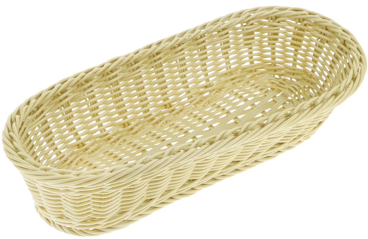 Корзинка Tescoma Flair, цвет: оливковый, 36 x 16,5 х 9 см665038_оливковыйПлетеная корзинка Tescoma Flair изготовлена из устойчивого к воздействию окружающей среды искусственного волокна. Идеально подходит для хранения выпечки, конфет, фруктов, косметики, рукоделия и оформления подарков. Она не требует тщательного ухода, не впитывает запахи, не боится воды и не разрушается от перепада температур. Корзинка Tescoma Flair отлично впишется в интерьер вашего дома. Можно мыть в посудомоечной машине.