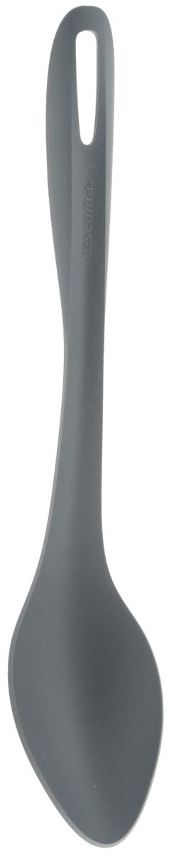 Ложка Tescoma Virtuoso, длина 33 см. 638116638116Ложка Tescoma Virtuoso изготовлена из высококачественного термостойкого нейлона, устойчивого к 230°С. Ложка прекрасно подходит для порционной сервировки и перемешивания во время готовки горячих блюд и гарниров - различных рагу, ризотто и прочих блюд. Изделие безопасно для всех видов посуды, отлично подходит для посуды с антиадгезионным слоем. Ручка снабжена специальным отверстием для подвешивания на крючок. Изделие можно мыть в посудомоечной машине. Длина ложки: 33 см. Размер рабочей части: 11 х 6,5 см.