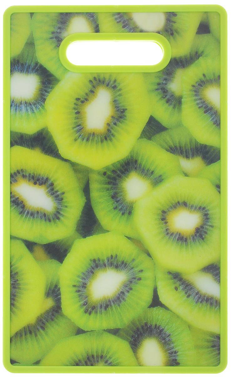 Доска разделочная Mayer & Boch Киви, 37 х 23 см. 2415824158-4_кивиРазделочная доска Mayer & Boch отлично подходит для приготовления и измельчения пищи, а также для сервировки стола. Доска двухсторонняя. Одна сторона выполнена из бамбука, а другая сторона имеет антибактериальное пластиковое покрытие с красочным рисунком. Доска идеальна для резки керамическим ножом. Снабжена ручкой для комфортного использования.