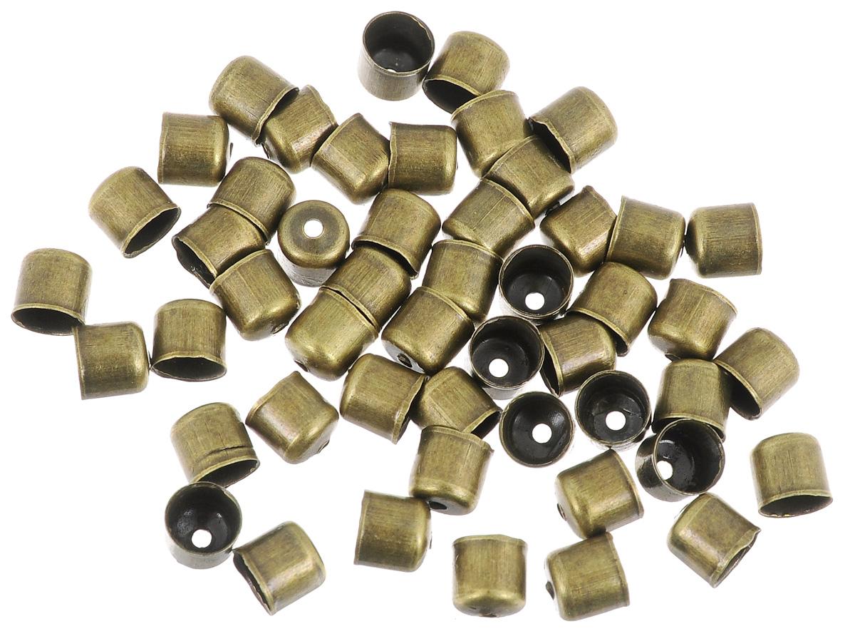 Шапочка для бусин Астра, цвет: латунь, 6 х 5 мм, 50 шт. 77057147705714_латуньНабор Астра, изготовленный из металла, состоит из 50 шапочек для бусин. Набор позволит вам своими руками создать оригинальные ожерелья, бусы или браслеты. Шапочки обрамляют бусины и придают законченный красивый вид изделию. Их можно крепить как с одной, так и с обеих сторон бусины. Это прекрасная фурнитура для создания бижутерии. Изготовление украшений - занимательное хобби и реализация творческих способностей рукодельницы, это возможность создания неповторимого индивидуального подарка.