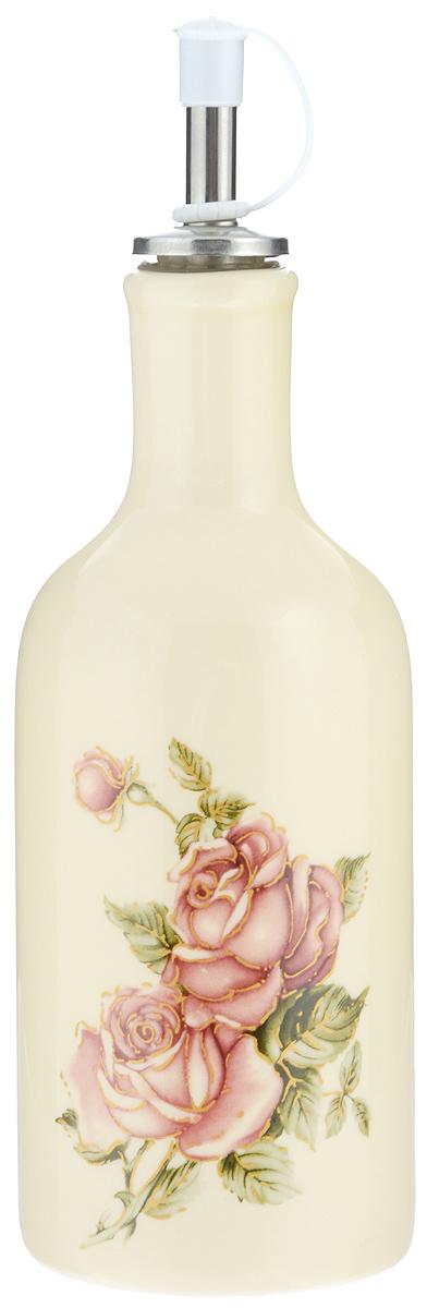 Бутылка для масла и уксуса Loraine Розы, 290 мл21686Бутылка для масла и уксуса Loraine Розы изготовлена из прочной доломитовой керамики высокого качества. Гладкая и ровная глазурованная поверхность обеспечивает легкую очистку. Изделие оформлено красочным изображением роз. Бутылка предназначена для хранения подсолнечного или оливкового масла и уксуса. С помощью специального дозатора вы сможете легко добавить нужное количество жидкости. Изделие можно мыть в посудомоечной машине, подходит для использования в микроволновой печи (без дозатора). Диаметр основания: 6,5 см. Высота бутылки (с дозатором): 21,5 см.