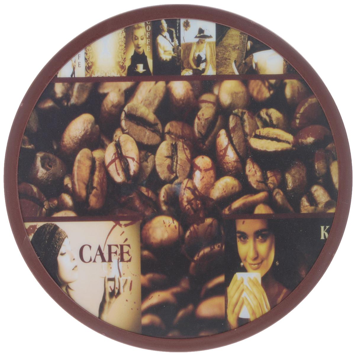 Доска разделочная Mayer & Boch Cafe, вращающаяся, 30 см25597Вращающаяся разделочная доска Mayer & Boch Cafe, выполненная из высококачественного пластика и дерева, станет незаменимым аксессуаром на вашей кухне. Доска декорирована красочными рисунками и надписями. Антибактериальное покрытие защищает от плесени, грибков и неприятных запахов. Изделие предназначено для измельчения продуктов. Доска вращается на 360°, что делает ее еще и отличным аксессуаром для сервировки пищи. Такая доска прекрасно впишется в интерьер любой кухни и прослужит вам долгие годы. Диаметр доски: 30 см. Диаметр основания: 18 см. Высота: 4 см.