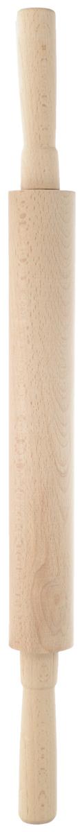 Скалка Хозяюшка, длина 51 см40-33Скалка Хозяюшка изготовлена из бука. Изделие оснащено крутящимися ручками. Бук наряду с дубом и тиком относится к ценным твердолиственным породам элитной группы категории А, класса люкс. По структуре древесины бук считается менее рыхлым, чем дуб, и более гибким, чем тик, при этом не уступает по прочности этим двум породам, а по красоте даже превосходит их. Бук отличают, прежде всего, уникальная текстура и естественный белый с желтовато-красным оттенком, со временем переходящим в розовато- коричневый, цвет древесины. Бук прекрасно поддается шлифовке и полировке. Бук боится влаги, но, как в случае со всеми без исключения скалками из древесины, вопрос влагостойкости решается пропиткой дерева специальным минеральным или льняным маслом. Масло защищает скалку от коробления, рассыхания и растрескивания. Именно поэтому все скалки Хозяюшка обработаны льняным маслом и упакованы в пленку. Такая скалка поможет с легкостью готовить...