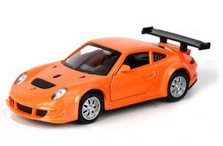 ТехноПарк Модель автомобиля Porsche 911 GT3 RSR цвет оранжевый67304_оранжевыйУникальная точная копия настоящей машины. Модель инерционная с открывающими дверями станет отличным дополнением коллекции малыша.