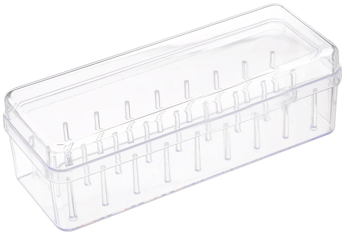 Органайзер для хранения ниток Gutermann, на 27 катушек, 20 x 7,8 x 6,5 см7713426/728179Органайзер Gutermann изготовлен из пластика и оснащен специальными держателями для катушек с нитками. Этот замечательный органайзер прекрасно подходит для хранения рукоделия и мелких предметов, которые всегда должны быть под рукой. Размер органайзера: 20 х 7,8 х 6,5 см.