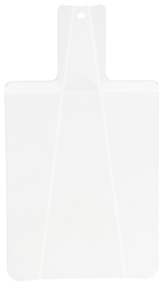 Доска разделочная Mayer & Boch, складная, цвет: белый, 21 х 37 см22178_белыйРазделочная доска Mayer & Boch изготовлена из высококачественного полипропилена. Умный дизайн рукоятки позволяет с легкостью складывать, а также разворачивать доску. При сжатии ручки края доски складываются, образуя форму лотка. Это позволяет с легкостью и быстротой переносить нарезанные продукты. Такая доска не помнется, не сломается и не пойдет трещинами. Компактная доска Mayer & Boch прекрасно подойдет даже для небольшой поверхности стола и не займет много места при хранении.