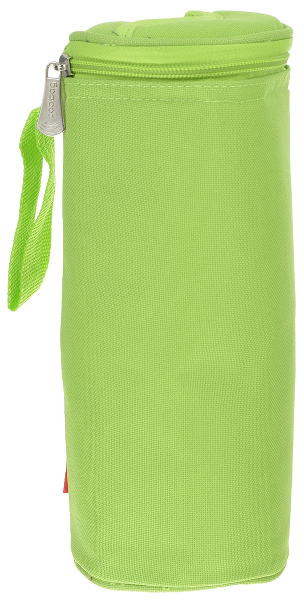 Сумка-холодильник Tescoma Coolbag, цвет: салатовый, 10,5 х 10,5 х 25 см892312Сумка-холодильник Tescoma Coolbag, изготовленная из прочного полиэстера и полипропиленовой фольгированной пленки, предназначена для сохранения температуры напитков. Сумка-холодильник имеет одно вместительное отделение. Благодаря отверстию для горлышка, емкость можно открыть в любое время, не доставая ее из сумки. Изделие идеально подходит для ПЭТ бутылок объемом 0,75-1 литра. Внутри сумки расположена теплоизолирующая подкладка из алюминиевой фольги. Сумка закрывается на молнию и имеет регулируемый ремень для удобной переноски. Она прекрасно подходит для походов на пляж, пикников и поездок за город. С такой сумкой напитки дольше остаются охлажденными. Рекомендуется чистить влажным полотенцем. Нельзя мыть в посудомоечной машине, не стирать.