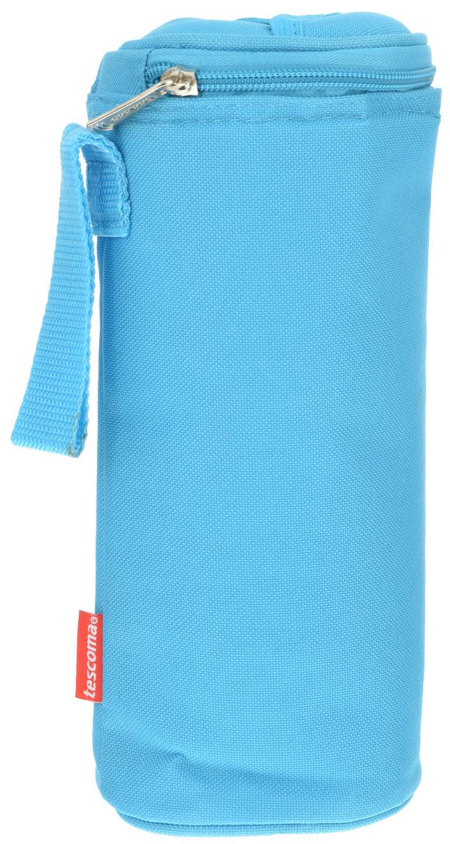 Сумка-холодильник Tescoma Coolbag, цвет: голубой, 10,5 х 10,5 х 25 см892312_голубойСумка-холодильник Tescoma Coolbag, изготовленная из прочного полиэстера и полипропиленовой фольгированной пленки, предназначена для сохранения температуры напитков. Сумка-холодильник имеет одно вместительное отделение. Благодаря отверстию для горлышка, емкость можно открыть в любое время, не доставая ее из сумки. Изделие идеально подходит для ПЭТ бутылок объемом 0,75-1 литра. Внутри сумки расположена теплоизолирующая подкладка из алюминиевой фольги. Сумка закрывается на молнию и имеет регулируемый ремень для удобной переноски. Она прекрасно подходит для походов на пляж, пикников и поездок за город. С такой сумкой напитки дольше остаются охлажденными. Рекомендуется чистить влажным полотенцем. Нельзя мыть в посудомоечной машине, не стирать.