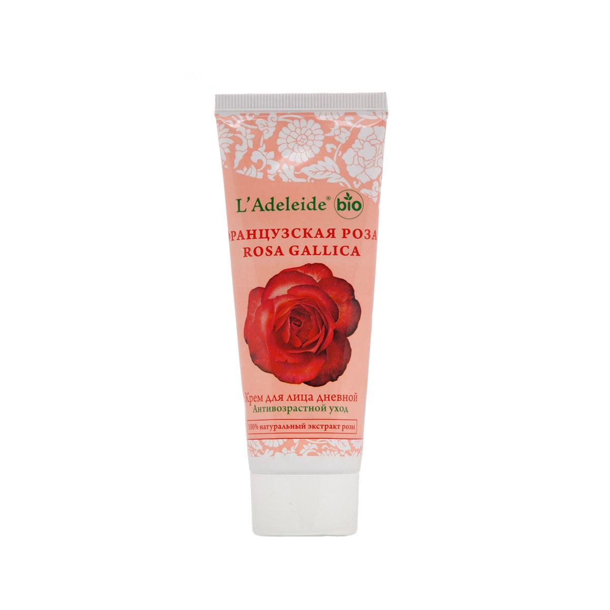 LAdeleide Крем для лица дневной Французская роза Антивозрастной, 75 млКС-097Французская роза – это линия компании L'Adeleide на основе натурального экстракта французской розы, волшебным эффектом которого пользуются многие столетия жительницы Cредиземноморья. Французская роза известна своим регенерирующим и омолаживающим эффектом. Благодаря последним технологиям, L'Adeleide смог передать сильный эффект экстракта. Косметический крем для лица Французская роза легко впитывается, устраняет все признаки уставшей кожи: успокаивает, увлажняет и питает. Сбалансированная формула крема содержит дистиллят розы и важнейшие витамины F и E. Крем способствует поддержанию эластичности и упругости кожи. В составе - комплекс Hydrovance, который обеспечивает тотальное увлажнение кожи за счет своего проникновения даже в самые глубокие слои эпидермиса. Hydrovance уменьшает раздражения и воспаления сухой кожи и повышает эластичность. Применение крема стимулирует клеточную регенерацию, препятствует возникновению морщин, способствует разглаживанию мелких морщин, повышает...