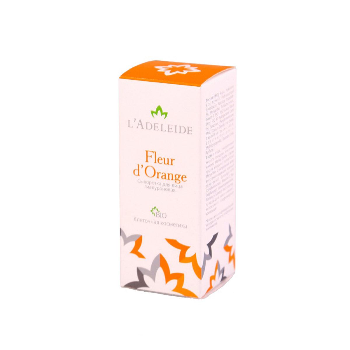 LAdeleide Сыворотка для лица гиалуроновая Fleur d'Orange, 15 млКС-411Инновационный продукт от LAdeleide переводит уход за кожей на новый уровень. Сыворотка Fleur dOrange это новейший косметический комплекс в максимальной концентрации. Сыворотка создана для того, чтобы стимулировать кожу на выработку собственных полезных веществ – коллагена, фибронектина и гиалуроновой кислоты. Высокая концентрация высоко- и низкомолекулярной гиалуроновой кислоты растительного происхождения лучше проникает в глубокие слои кожи. Аромат для сыворотки был создан парфюмерным домом Concept Aromatique специально для L'Adeleide. Высокотехнологичная и натуральная косметика от экспертов отрасли с использованием только современного импортного сырья. В основе эффективности крема: Matrixyl Synthe 6 - содержит стволовые клетки растительного происхождения. Улучшает контур лица, борется с возрастной пигментацией и разглаживает морщины. Hydrofiltrat Menyanthes G - восстанавливает кожный эпидермис, моделирует овал лица. Гиалуроновая кислота – (высоко-...
