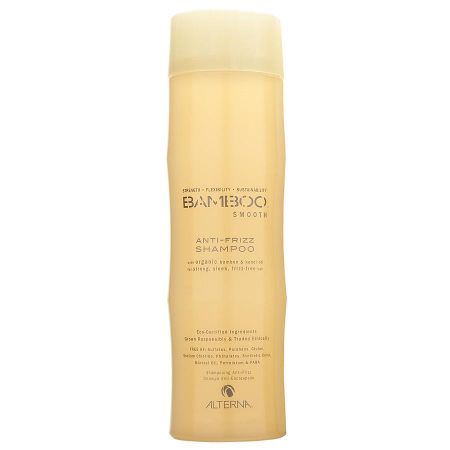 Alterna Полирующий шампунь Bamboo Smooth Anti-Frizz Shampoo - 250 мл44010Органическое масло Kendi Oil и экстракт бамбука, входящие в состав шампуня Alterna Bamboo Smooth Anti-Frizz Shampoo помогут оптимально увлажнить и укрепить волосы, делая их гладкими, сильными и шелковистыми. Технология Color Hold позволит вашим окрашенным волосам дольше сохранять цвет, не вымывая его. Результат: Очищает волосы без использования сульфатов. Оптимально увлажняет волос. Укрепляет волосы, закладывает основу для гладких и здоровых волос. Сохраняет яркость цвета окрашенных и натуральных волос. Улучшает внешний вид волос. Разглаживает волосы, придает им гладкость и блеск. Обладает влагостойкими свойствами.
