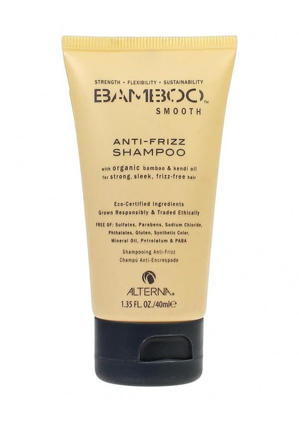 Alterna Полирующий шампунь Bamboo Smooth Anti-Frizz Shampoo, 40 мл44011Bamboo Smooth Anti-Frizz Shampoo Полирующий шампунь способствует укреплению волоса от корня и до кончиков. Шампунь не содержит различных сульфатов, поэтому нежно и бережно очистит кожу головы и каждый волос отдельно. В состав шампуня входит масло бамбука, которое оптимально увлажняет и делает принятие ванной ещё более свежим. Помимо этого экстракт бамбука придаёт внутреннюю силу и гибкость волосам, и они легко поддаются расчесыванию и укладке. Касторовое масло, входящее в состав шампуня, обладает особыми функциями. Оно занимается уходом за общим липидным слоем волос. Это средство является оптимальным вариантом для сухих, непослушных и жирных волос. Уже после первого использования чувствуется заметная лёгкость и свежесть, ведь экстракт японского васаби защищает и укрепляет организм.