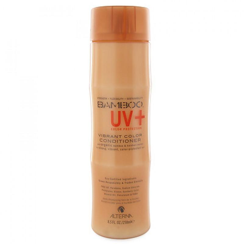 Alterna Кондиционер для ухода за цветом Bamboo Color Care UV+ Vibrant Color Conditioner - 250 мл47110Устойчивая к вымыванию технология Color Hold UV обеспечивает высокий уровень защиты цвета от воздействия солнечных лучей спектра UVA и UVB, дневного света и искусственного освещения, а также от разрушительного воздействия термических средств для укладки волос. Alterna Bamboo Color care UV Vibrant Color Conditioner бережно ухаживает за окрашенными волосами, уберегает их от вредного воздействия ультрафиолетовых лучей, повышает эластичность волос и придает им ослепительный блеск. Также он защищает волосы от воздействия свободных радикалов. Оказывает укрепляющее и кондиционирующее действие на нормальные и поврежденные волосы. 3ащищает их от стресса и внешних агрессивных факторов. Предупреждает осаждение микрочастиц на ствол волоса и препятствует воздействию загрязненной окружающей среды. Результат: Кондиционер придает волосам шелковистость и закладывает основу для сильных и здоровых волос. Предотвращает вымывание цвета в процессе ухода за волосами и сохраняет насыщенность оттенка....