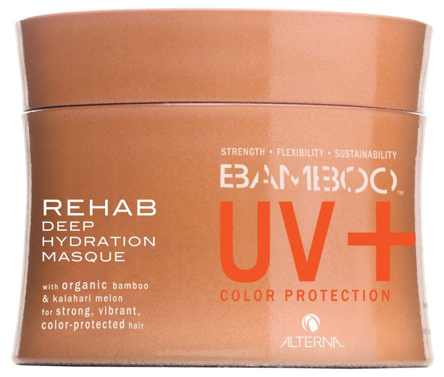 Alterna Восстанавливающая маска-уход за цветом Bamboo Color Care UV+ Rehab Deep Hydration Masque - 150 мл47210Глубоко увлажняющая маска для окрашенных волос с экстрактом бамбука Alterna Bamboo Color care UV Rehab Deep Hydration Masque совмещает в себе органический экстракт бамбука, который моментально усиливает внутреннюю силу и гибкость волос. Маска подходит для всех типов волос, но особенно рекомендуется для окрашенных волос. Ее можно использовать после процедуры по обычному выпрямлению волос, кератиновому выпрямлению волос и после перманентной завивки. Результат: Обеспечивает волосам защиту от ультрафиолетовых лучей спектра UVA/UVB. Маска повышает внутреннюю силу волос, делая их более сильными и здоровыми. Интенсивно питает структуру окрашенных и сухих волос. Создает для волос натуральный барьер, который защищает негативного воздействия окружающей среды. Повышает эластичность волос и придает оттенку окрашенных волос яркость и многомерное сияние. Предотвращает вымывание цвета в процессе ухода за волосами и сохраняет насыщенность оттенка.
