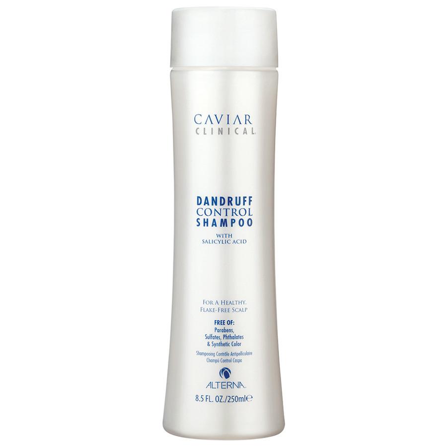Alterna Шампунь против перхоти Здоровая кожа головы Caviar Clinical Dandruff Control Shampoo — 250 мл67126Шампунь против перхоти Здоровая кожа головы (Caviar Clinical Dandruff Control Shampoo) действует на саму причину появления перхоти, поэтому считается наиболее эффективным в своей сфере воздействия. Этот шампунь состоит из салициловой кислоты. Она является основным компонентом любого шампуня от перхоти, в том числе и этого. Суть её работы заключается в том, чтобы расщепить продукты деятельности сальных желез кожи головы. Именно сальные железы способствуют появлению большого количества перхоти и, устранив их, вы удаляете все причины появления этого недуга. Помимо этого шампунь способствует улучшению структуры волоса и устранению зуда и раздражения. Экстракт листьев кориандра, входящий в состав компонентом шампуня улучшает цвет и прочность волоса. В то время как аскорбиновая кислота придаёт им силы и здорового блеска.
