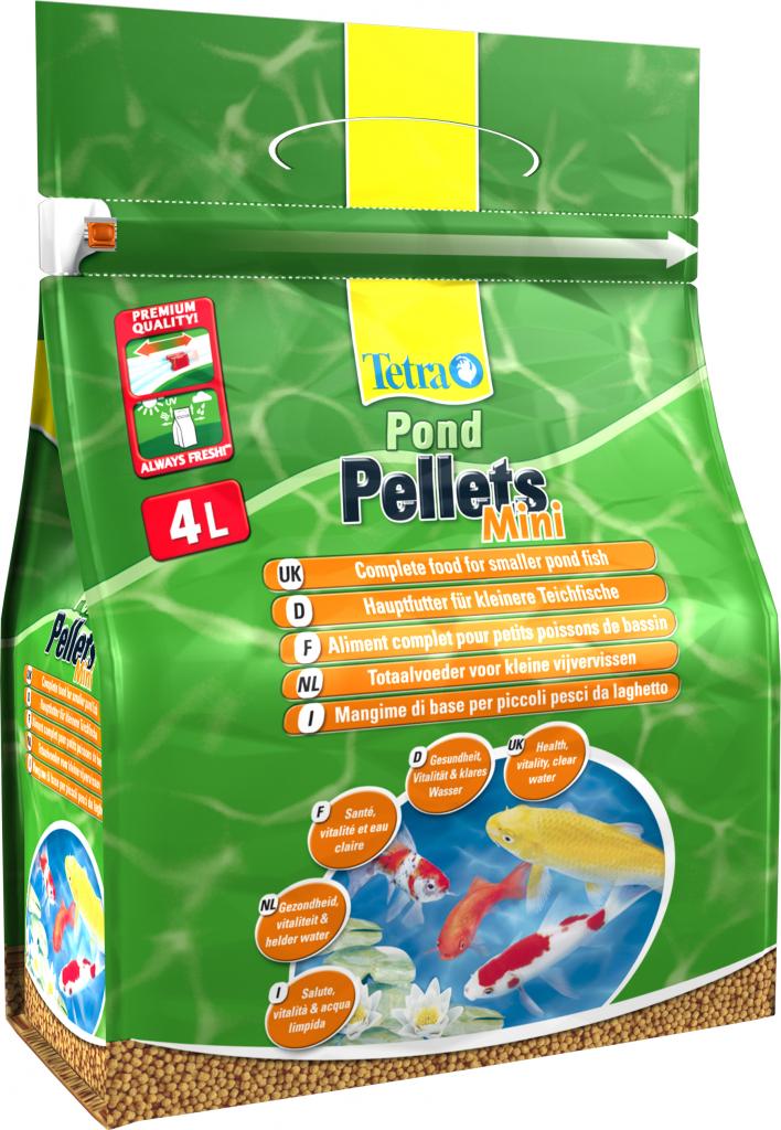 Корм для прудовых рыб Tetra Pond. Pellets Mini, шарики, 4 л (1,05 кг)169807Корм Tetra Pond. Pellets Mini - это полноценный корм для ежедневного кормления всех прудовых рыб длиной до 20 см. Плавающие шарики легко заглатываются рыбами. Корм содержит все важные питательные вещества, витамины и микроэлементы для поддержания здоровья рыбы. Два размера шариков позволяют удовлетворить потребности любых рыб. Корм быстро размягчается, легко переваривается, обеспечивает небольшое количество отходов и меньшее загрязнение воды. Состав: растительные продукты, зерновые культуры, экстракты растительного белка, рыба и побочные рыбные продукты, масла и жиры, дрожжи, минеральные вещества, водоросли. Пищевая ценность: сырой белок 28%, сырые масла и жиры 3,5%, сырая клетчатка 2%, влага 7%. Добавки: витамины, провитамины и химические вещества с аналогичным воздействием: витамин A 28800 МЕ/кг, витамин Д3 1800 МЕ/кг. Комбинации элементов: Е5 Марганец 74 мг/кг, Е6 Цинк 44 мг/кг, Е1 Железо 29 мг/кг, Е3 Кобальт 0,5 мг/кг. Красители, антиоксиданты....