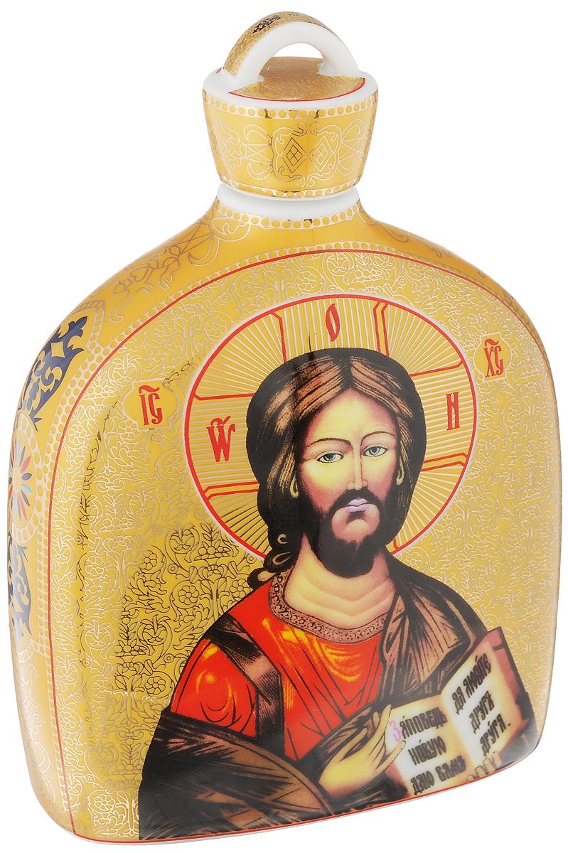 Сосуд для святой воды Elan Gallery Иисус Христос, 500 мл503700Сосуд Elan Gallery Иисус Христос, изготовленный из высококачественной керамики, предназначен для хранения святой воды. Изделие сочетает в себе элегантный дизайн и функциональность. Такой сосуд станет отличным подарком вашим друзьям и близким! Изделие упаковано в подарочную коробку с атласной подложкой. Не рекомендуется применять абразивные моющие средства. Не использовать в микроволновой печи. Диаметр (по верхнему краю): 2 см. Высота (с учетом крышки): 17,5 см.