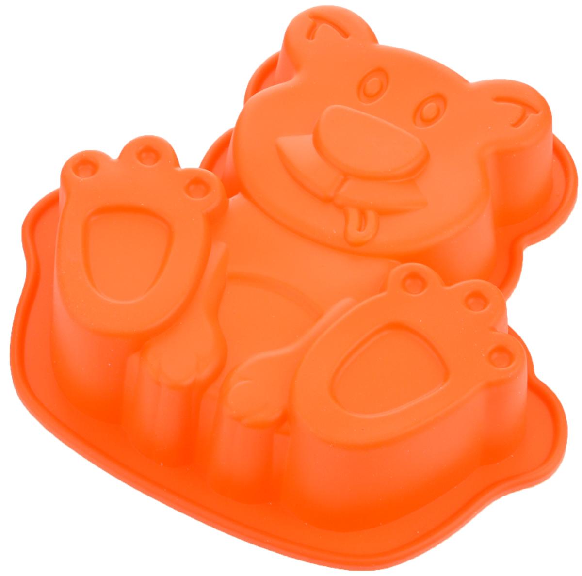 Форма для выпечки Mayer & Boch Собачка, цвет: оранжевый, 20,5 х 20 см24614_оранжевыйФорма Mayer & Boch Собачка выполнена из силикона и предназначена для изготовления выпечки, желе или льда. Оригинальный способ подачи изделий не оставит равнодушным родных и друзей. Форма выдерживает от -40°С до +230°С. Она эластична, износостойка, легко моется, не горит и не тлеет, не впитывает запахи, не оставляет пятен. Силикон абсолютно безвреден для здоровья. Можно мыть в посудомоечной машине. Внешние размеры формы: 20,5 х 20 х 4,5 см. Внутренние размеры формы: 17 х 17,5 х 4 см.