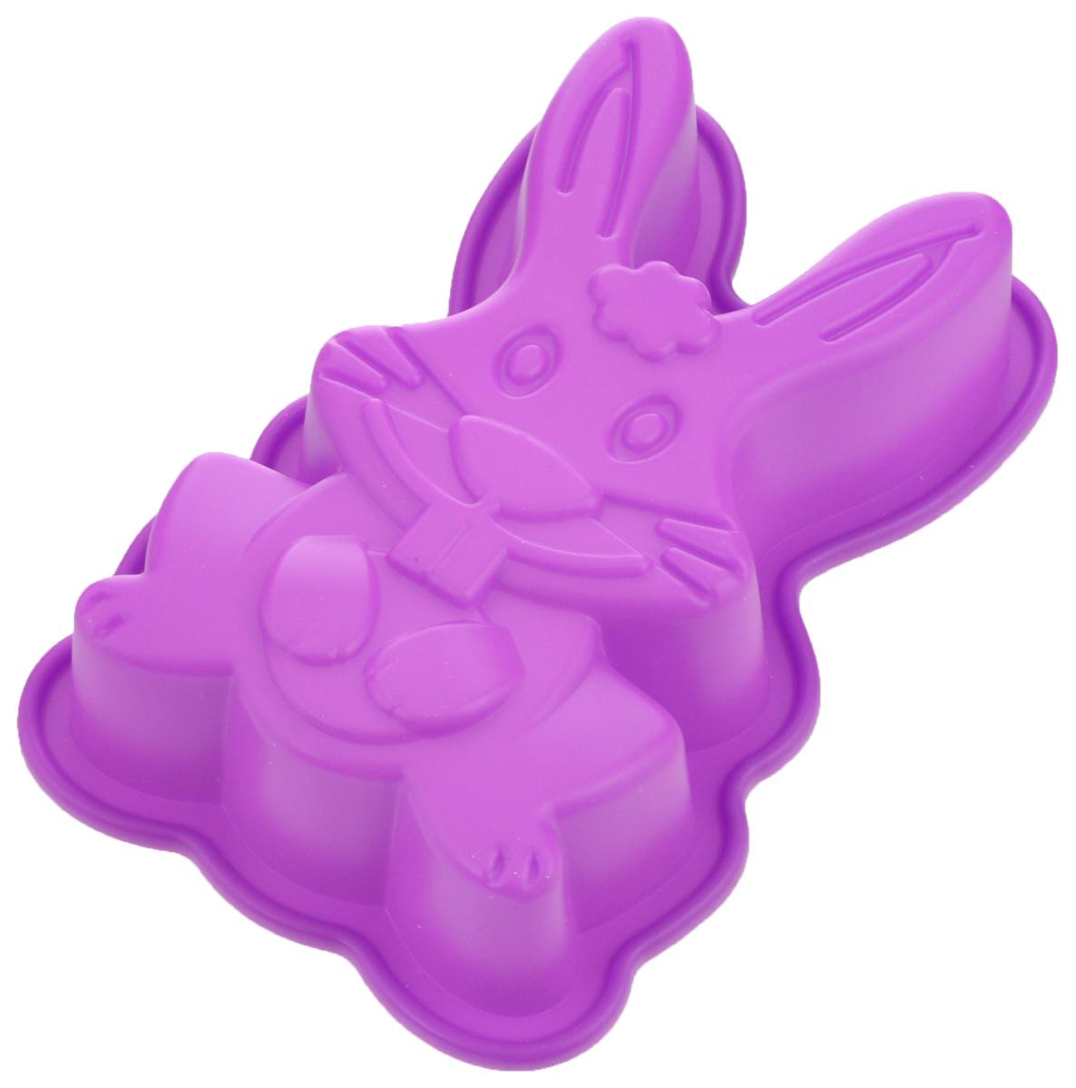 Форма для выпечки Mayer & Boch Заяц, цвет: фиолетовый, 13 х 19 см24616_фиолетовыйФорма Mayer & Boch Заяц выполнена из силикона и предназначена для изготовления выпечки, желе или льда. Оригинальный способ подачи изделий не оставит равнодушным родных и друзей. Форма выдерживает от -40°С до +230°С. Она эластична, износостойка, легко моется, не горит и не тлеет, не впитывает запахи, не оставляет пятен. Силикон абсолютно безвреден для здоровья. Можно мыть в посудомоечной машине. Внешние размеры формы: 13 х 19 х 4 см. Внутренние размеры формы: 11 х 17 х 3,5 см.