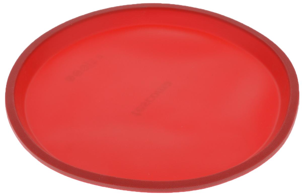 Форма для пиццы Tescoma Delicia Silicone, цвет: красный, диаметр 31 см629292Форма для пиццы Tescoma Delicia Silicone выполнена из высококачественного пищевого силикона, который выдерживает температуру от -40°С до +230°С. Изделие отлично подходит для приготовления пиццы. Выпечка в такой форме не пригорает, не пристает и легко извлекается из формы. Форма не впитывает запахи, легко моется и абсолютно безопасна с точки зрения гигиены. Подходит для использования в микроволновых, газовых и электрических печах, морозильных камерах. Можно мыть в посудомоечной машине. Внутренний диаметр формы: 29 см. Внешний диаметр формы: 31 см. Высота стенки: 2 см.