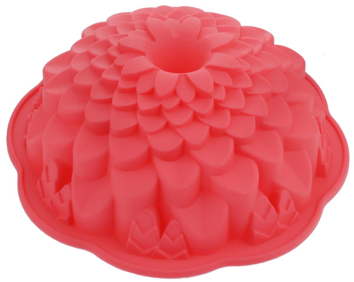 Форма для выпечки Marmiton Хризантема, цвет: красный, диаметр 21,5 см16045_красныйФигурная форма для выпечки Marmiton Хризантема будет отличным выбором для всех любителей бисквитов и кексов. Благодаря тому, что форма изготовлена из силикона, готовую выпечку или мармелад вынимать легко и просто. С такой формой вы всегда сможете порадовать своих близких оригинальной выпечкой. Материал устойчив к фруктовым кислотам, может быть использован в духовках, микроволновых печах и морозильных камерах (выдерживает температуру от +240°C до -50°C). Можно мыть и сушить в посудомоечной машине. Диаметр формы: 21,5 см. Высота формы: 7 см.