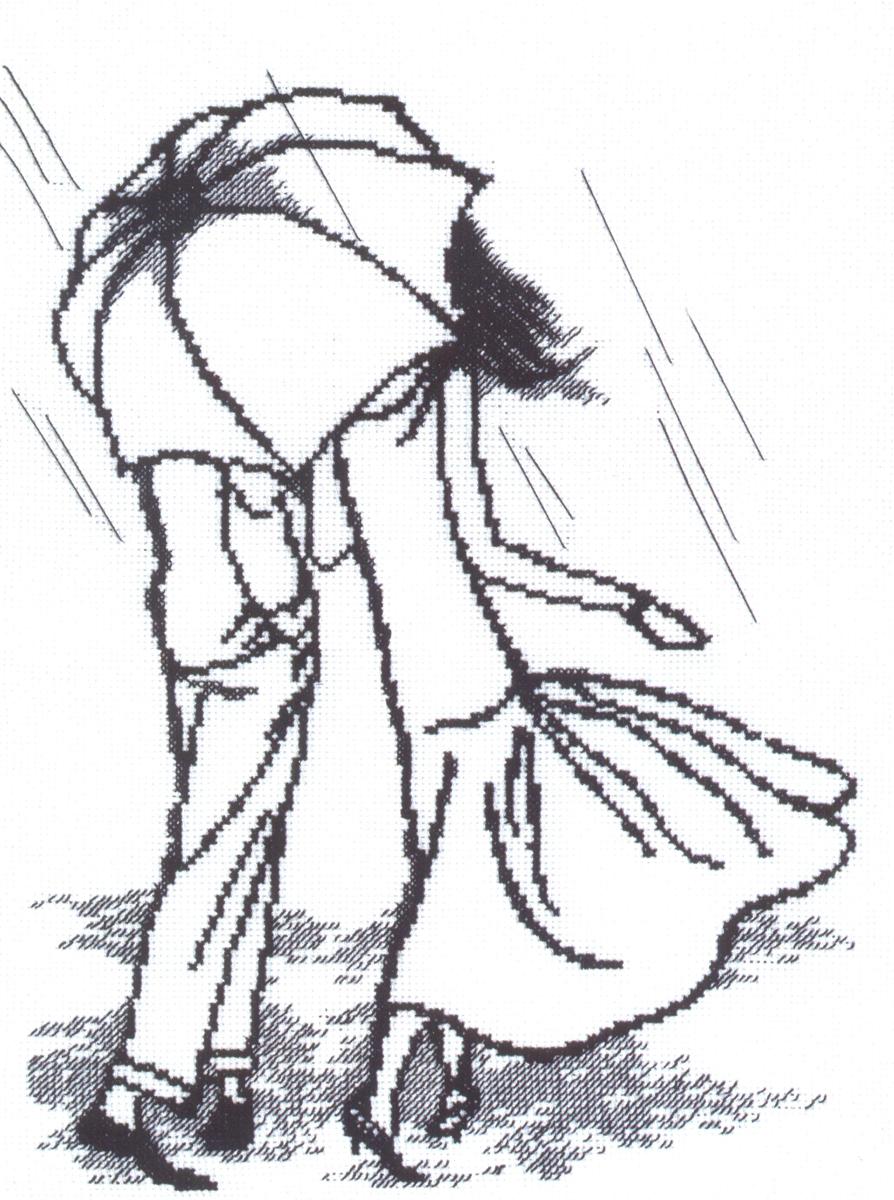 Набор для вышивания Чаривна Мить Танец под дождем, 22,5 см х 30,5 см. 363648063