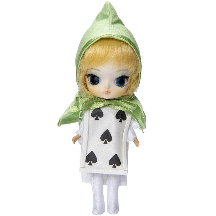 Groove Кукла Little Dal Карточный солдатGRVF243Дизайнерские куклы от японской компании Groove могут похвастаться множеством подвижных шарнирных соединений, своей собственной историей и уникальным внешним видом — каждая кукла из этой серии обладает индивидуальной причёской и макияжем. С помощью специального механизма, расположенного в голове, можно изменять направление взгляда и закрывать глаза. В комплекте: лук и стрела, короткий меч, подставка Материал: пластик Высота куклы: 26 см