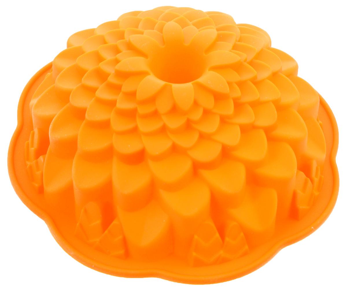 Форма для выпечки Marmiton Хризантема, цвет: оранжевый, диаметр 21,5 см16045_оранжевыйФигурная форма для выпечки Marmiton Хризантема будет отличным выбором для всех любителей бисквитов и кексов. Благодаря тому, что форма изготовлена из силикона, готовую выпечку или мармелад вынимать легко и просто. С такой формой вы всегда сможете порадовать своих близких оригинальной выпечкой. Материал устойчив к фруктовым кислотам, может быть использован в духовках, микроволновых печах и морозильных камерах (выдерживает температуру от +240°C до -50°C). Можно мыть и сушить в посудомоечной машине. Диаметр формы: 21,5 см. Высота формы: 7 см.
