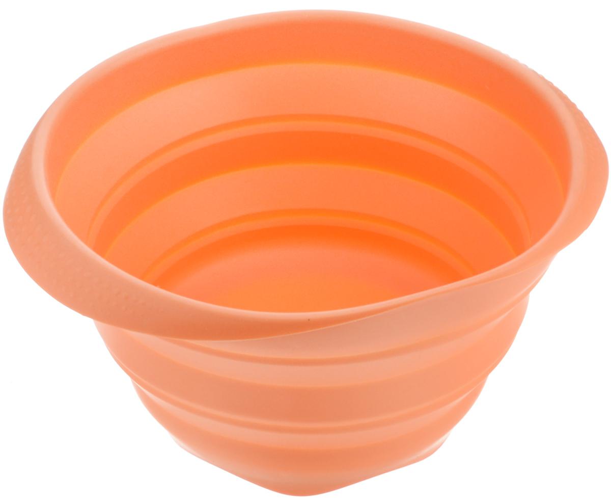 Миска складная Tescoma Fusion, силиконовая, цвет: оранжевый, диаметр 24 см638414_оранжевыйСкладная миска Tescoma Fusion, изготовленная из первоклассного жароупорного силикона, станет полезным приобретением для вашей кухни. Изделие отлично складывается, можно быстро разложить и сложить, легко моется. Обладает термостойкостью от -40°C до +230°C. Миска пригодна для всех видов духовок, микроволновой печи, холодильника, морозильника. Можно мыть в посудомоечной машине. Диаметр миски: 24 см. Ширина миски (с учетом ручек): 27 см. Высота миски (в разложенном виде): 14 см. Высота миски (в сложенном виде): 4,5 см.