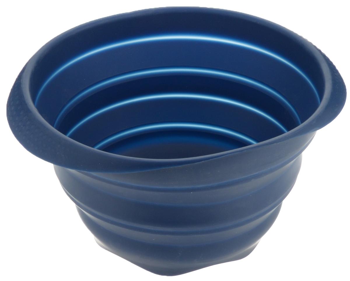 Миска складная Tescoma Fusion, силиконовая, цвет: синий, диаметр 24 см638414_синийСкладная миска Tescoma Fusion, изготовленная из первоклассного жароупорного силикона, станет полезным приобретением для вашей кухни. Изделие отлично складывается, можно быстро разложить и сложить, легко моется. Обладает термостойкостью от -40°C до +230°C. Миска пригодна для всех видов духовок, микроволновой печи, холодильника, морозильника. Можно мыть в посудомоечной машине. Диаметр миски: 24 см. Ширина миски (с учетом ручек): 27 см. Высота миски (в разложенном виде): 14 см. Высота миски (в сложенном виде): 4,5 см.