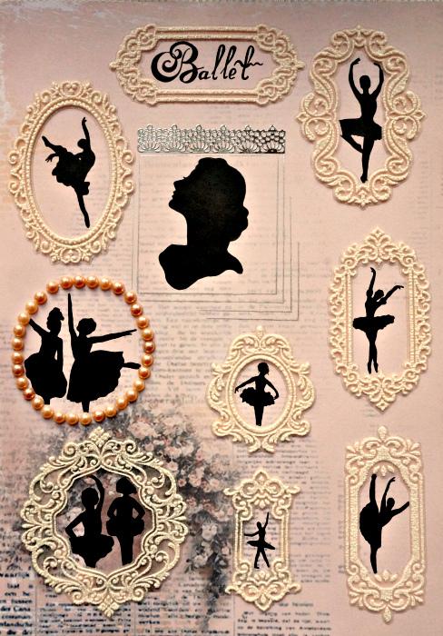 Постер. Картина-принт БалетПКПБИстория балерины в стиле шебби шик и винтаж. Графика. Силуэты. Размер постера: 30 х 20 см. Для печати использована льняная бумага.