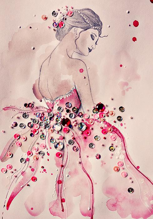 Постер. Картина-принт Розовая вуальПКПРВРазмер постера: 30 х 20 см. Для печати использована льняная бумага. Нежная, воздушная, утонченная... Вся закутанная в тонкий цветочный аромат, окруженная розовым, персиковым, пудровым сиянием, блистающая золотыми и перламутровыми бликами на солнце...