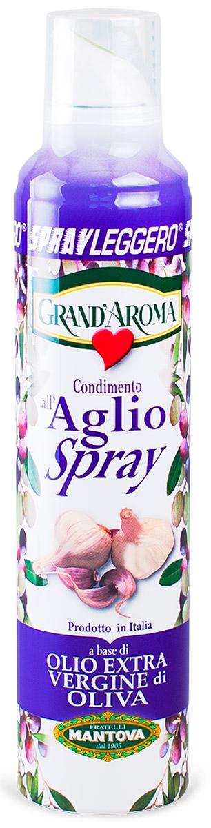 Fratelli Mantova Extra Virgin оливковое масло с чесноком спрей, 250 мл