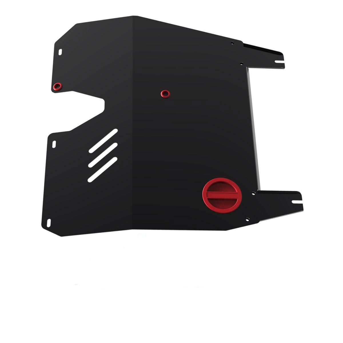 Защита картера и КПП Автоброня, для Mitsubishi Lancer IX V-1,6, 2003-2009111.04002.3Защита картера и КПП Автоброня выполнена из высококачественной стали с пластиковыми вставками. Глубокий штамп усиливает конструкцию. Защита оснащена отверстием с крышкой для слива масла и виброгасящими компенсаторами. Толщина стали: 2 мм. В комплекте набор крепежа.