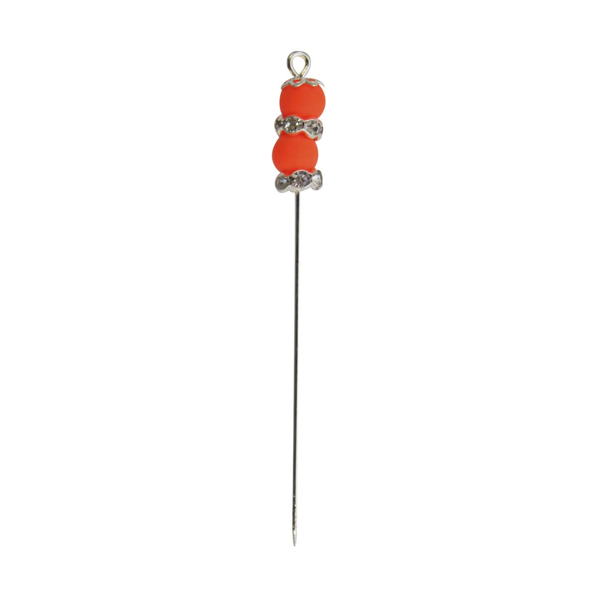 Булавки декоративные Астра с бусинами, 4 шт. HR27327714206Булавки используются для творчества и декорирования. В упаковке 6 булавочек.