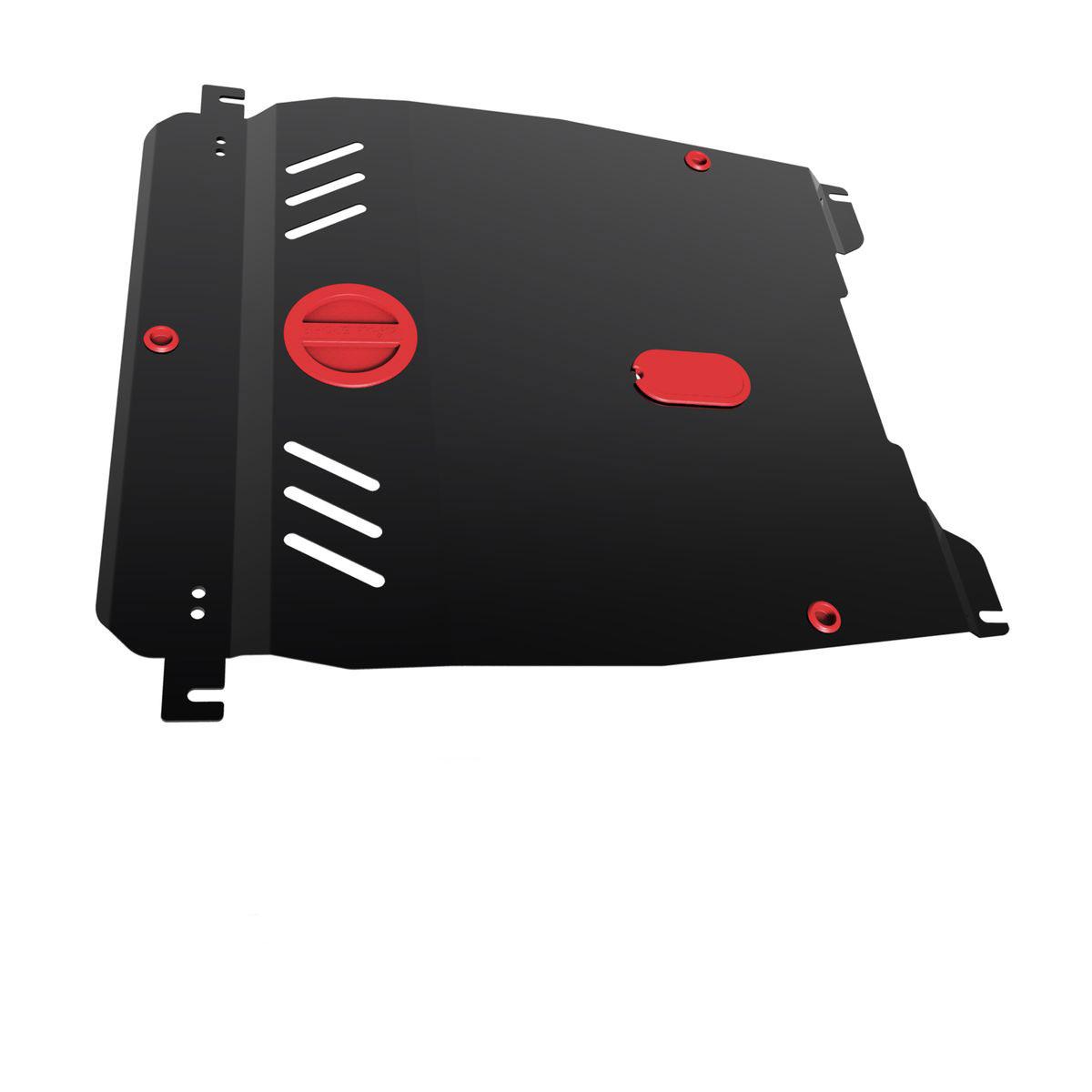 Защита картера и КПП Автоброня, для Chevrolet Lacetti V-1,4, 1,6; 1,8, 2004-2013111.01004.3Технологически совершенный продукт за невысокую стоимость. Защита разработана с учетом особенностей днища автомобиля, что позволяет сохранить дорожный просвет с минимальным изменением. Защита устанавливается в штатные места кузова автомобиля. Глубокий штамп обеспечивает до двух раз больше жесткости в сравнении с обычной защитой той же толщины. Проштампованные ребра жесткости препятствуют деформации защиты при ударах. Тепловой зазор и вентиляционные отверстия обеспечивают сохранение температурного режима двигателя в норме. Скрытый крепеж предотвращает срыв крепежных элементов при наезде на препятствие. Шумопоглощающие резиновые элементы обеспечивают комфортную езду без вибраций и скрежета металла, а съемные лючки для слива масла и замены фильтра - экономию средств и время. Конструкция изделия не влияет на пассивную безопасность автомобиля (при ударе защита не воздействует на деформационные зоны кузова). Со штатным крепежом. В комплекте инструкция по...
