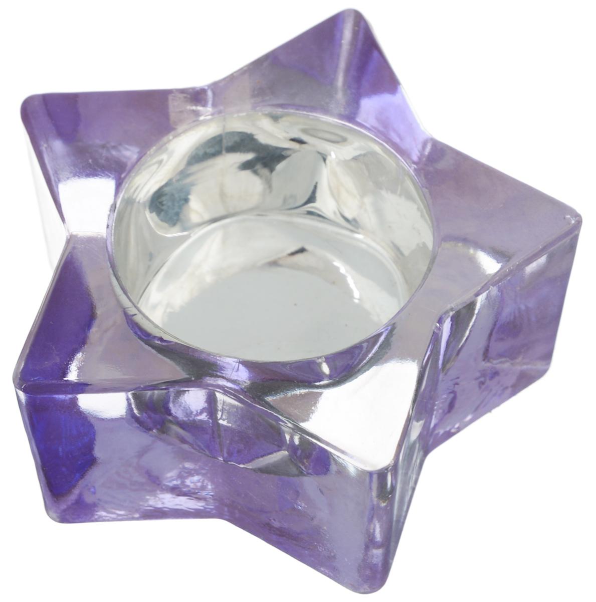 Подсвечник Loraine Звездочка, цвет: фиолетовый20239_фиолетовыйДекоративный подсвечник Loraine Звездочка изготовлен из цветного стекла и предназначен для одной свечи. Изделие имеет форму звезды. Благодаря оригинальному дизайну, такой подсвечник позволит украсить интерьер дома или рабочего кабинета оригинальным образом. Вы сможете не просто внести в интерьер своего дома элемент необычности, но и создать атмосферу загадочности. Размер подсвечника: 7,5 х 7,5 х 3,3 см. Диаметр отверстия для свечи: 4,2 см.