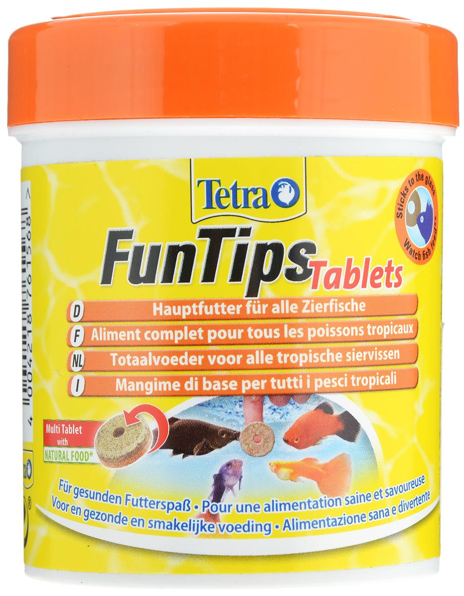 Корм Tetra FunTips Tablets для всех видов тропических рыб, 150 мл (65 г), 165 таблеток761568Корм Tetra FunTips Tablets - это полноценный корм для всех видов тропических рыб, состоящий из хлопьев и сублимированных микроорганизмов и спрессованный в виде таблеток. Корм уникален тем, что может быть приклеен к аквариумному стеклу. Таблетки прикрепляются к стеклу, что предоставляет хозяину аквариума возможность наблюдать за рыбками в период кормления. Применение: кормить несколько раз в день маленькими порциями. Состав: молоко и молочные продукты, моллюски и ракообразные (в том числе дафния 9,5%, артемия 6%, гаммарус 4,5%, ракообразные 2%), рыба и побочные рыбные продукты, растительные экстракты белка, зерновые, дрожжи, водоросли (спирулина 1,8%), масла и жиры, сахар, минеральные вещества. Гарантированный анализ: протеин 42,0%, масла и жиры 5,0%, клетчатка 2,0%, вода 11,0%. Добавленные вещества: витамины, провитамины и химически схожие вещества. Товар сертифицирован.