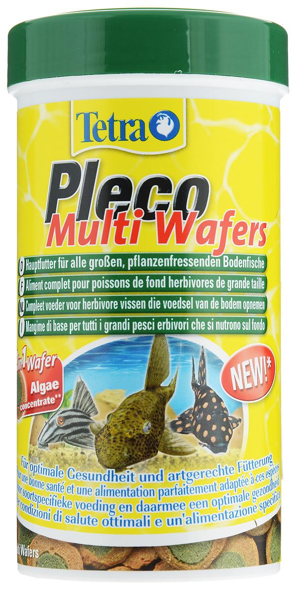 Корм Tetra Pleco. Multi Wafers для крупных травоядных донных рыб, пластинки, 250 мл (105 г)189652Корм Tetra Pleco. Multi Wafers - это 100% растительная кормовая смесь для крупных травоядных донных рыб. Корм состоит из концентрированных водорослей с содержанием Омега-3, а так же содержит большое количество необходимой клетчатки, что способствует укреплению иммунной системы рыб и значительно продлевает им жизнь. Не мутит воду. Рекомендации по кормлению: Давайте такое количество корма, которое рыба может съесть приблизительно за 30 минут. Используйте только в больших аквариумах. Состав: зерновые культуры, экстракты растительного белка, растительные продукты, дрожжи, водоросли (4%), масла и жиры, минеральные вещества. Добавки: витамины, провитамины и химические вещества с аналогичным воздействием: витамин А 28970 МЕ/кг, витамин Д3 1790 МЕ/кг. Комбинации элементов: Е5 Марганец 81 мг/кг, Е6 Цинк 48 мг/кг, Е1 Железо 32 мг/кг, Е3 Кобальт 0,6 мг/кг. Красители, антиоксиданты. Товар сертифицирован.