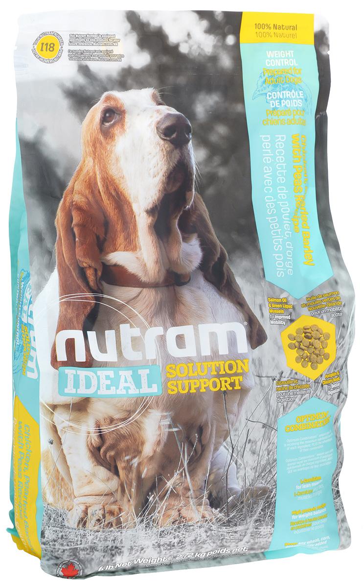 Корм сухой для собак Nutram Ideal Weight Control, 2,72 кг83105Сухой корм для собак Nutram Ideal Weight Control - специализированная пищевая поддержка для взрослых собак. Это целостный, полезный, богатый питательными веществами корм, который улучшает самочувствие и здоровье питомцев по принципу изнутри наружу. Подход Nutram к целостному питанию начинается с улучшения пищеварения с помощью специальной комбинации тыквы и корня цикория. Корень цикория способствует увеличению количества природных кишечных бактерий. Богатая клетчаткой тыква помогает движению пищи по пищеварительному тракту, продлевая ощущение сытости, что имеет решающее значение для контроля за весом. Ингредиенты с низким содержанием жира и высоким содержанием белка обеспечивают собак питательными веществами, необходимыми для естественного регулирования веса. Оптимальное сочетание жира лососевых рыб и зеленых мидий (источников Омега-3 жирных кислот) оказывает противовоспалительное действие, повышая подвижность собаки. Особенности: - Содержит...