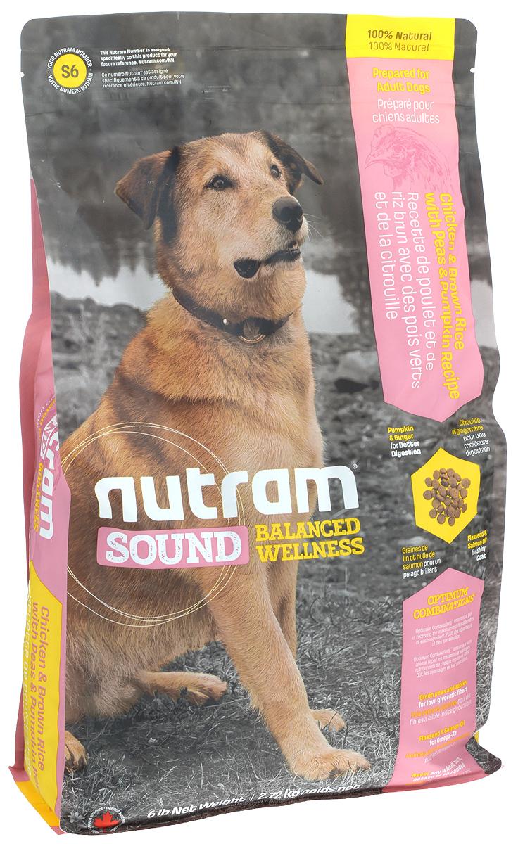 """Корм сухой Nutram """"Sound Adult Dog"""" для взрослых собак, 2,72 кг 83097"""