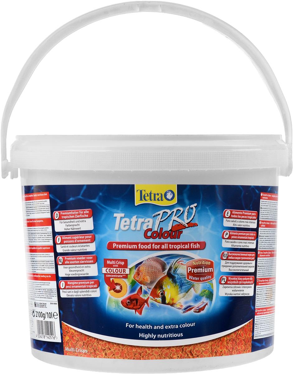 Корм сухой Tetra TetraPro. Colour для всех видов тропических рыб, чипсы, 10 л (2,1 кг)140516Полноценный высококачественный корм Tetra TetraPro. Colour для всех видов тропических рыб разработан для поддержания здоровья и придания дополнительной энергии. Особенности Tetra TetraPro. Colour: - щадящая низкотемпературная технология изготовления для высокой питательной ценности и стабильности витаминов; - цветовой концентрат для превосходной природной окраски; - инновационная форма чипсов для минимального загрязнения воды отходами; - идеально подходит для любых видов разноцветных рыб; - легкое кормление. Рекомендации по кормлению: кормить несколько раз в день маленькими порциями. Состав: рыба и побочные рыбные продукты, зерновые культуры, экстракты растительного белка, дрожжи, моллюски и раки, масла и жиры, водоросли. Аналитические компоненты: сырой белок - 46%, сырые масла и жиры - 12%, сырая клетчатка - 3%, влага - 9%. Добавки: витамины, провитамины и химические вещества с аналогичным...