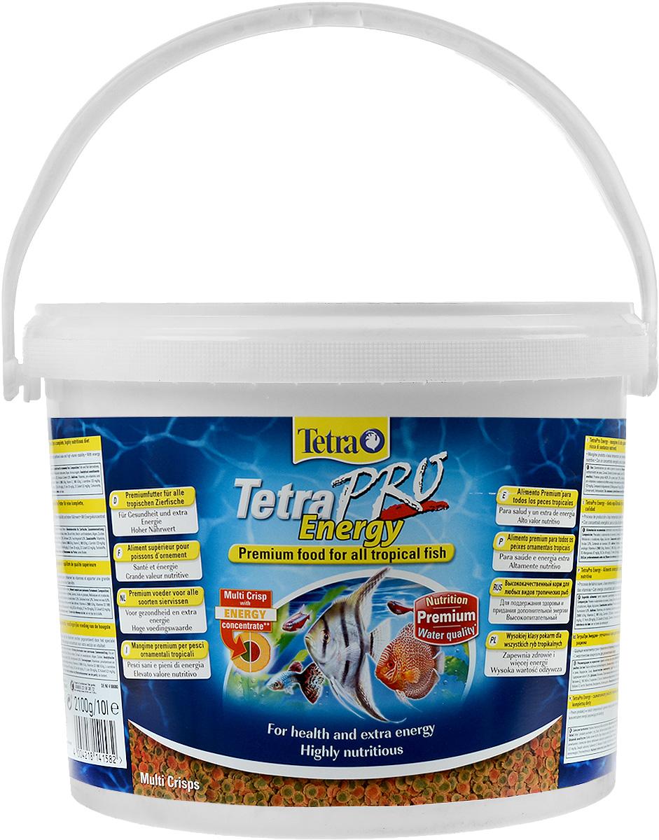 Корм Tetra TetraPro. Energy для всех видов тропических рыб, чипсы, 10 л (2,1 кг)141582Полноценный высококачественный корм Tetra TetraPro. Energy для всех видов тропических рыб разработан для поддержания здоровья и придания дополнительной энергии. Особенности Tetra TetraPro. Energy: - щадящая низкотемпературная технология изготовления обеспечивает высокую питательную ценность и стабильность витаминов; - энергетический концентрат для дополнительной энергии; - инновационная форма чипсов для минимального загрязнения воды отходами; - легкое кормление. Рекомендации по кормлению: кормить несколько раз в день маленькими порциями. Состав: рыба и побочные рыбные продукты, зерновые культуры, экстракты растительного белка, дрожжи, моллюски и раки, масла и жиры, водоросли, сахар. Аналитические компоненты: сырой белок - 46%, сырые масла и жиры - 12%, сырая клетчатка - 2,0%, влага - 9%. Добавки: витамины, провитамины и химические вещества с аналогичным воздействием: витамин А 29880 МЕ/кг, витамин Д3...