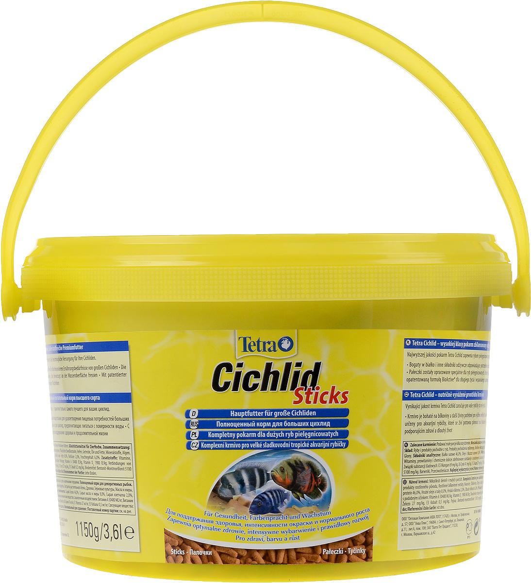 Корм сухой Tetra Cichlid. Sticks для больших цихлид, палочки, 3,6 л (1,15 кг)193802Корм Tetra Cichlid. Sticks - это биологически сбалансированный корм в виде палочек, предназначенный для больших цихлид. Корм богат белками и другими питательными веществами для удовлетворения пищевых потребностей больших цихлид, Палочки разработаны специально для цихлид, предпочитающих питаться с поверхности воды. Запатентованная формула BioActive поддерживает здоровую иммунную систему рыб. Рекомендации по кормлению: кормите не менее 2-3 раз в день в таком количестве, которое ваши рыбы могут съесть в течение нескольких минут. Состав: рыба и побочные рыбные продукты, растительные продукты, экстракты растительного белка, дрожжи, зерновые культуры, масла и жиры, водоросли, минеральные вещества. Аналитические компоненты: сырой белок - 46%, сырые масла и жиры - 8%, сырая клетчатка - 2%, влага - 6%. Добавки: витамины, провитамины и химические вещества с аналогичным воздействием, витамин А 30480 МЕ/кг, витамин Д3 1900 МЕ/кг. Комбинации элементов:...