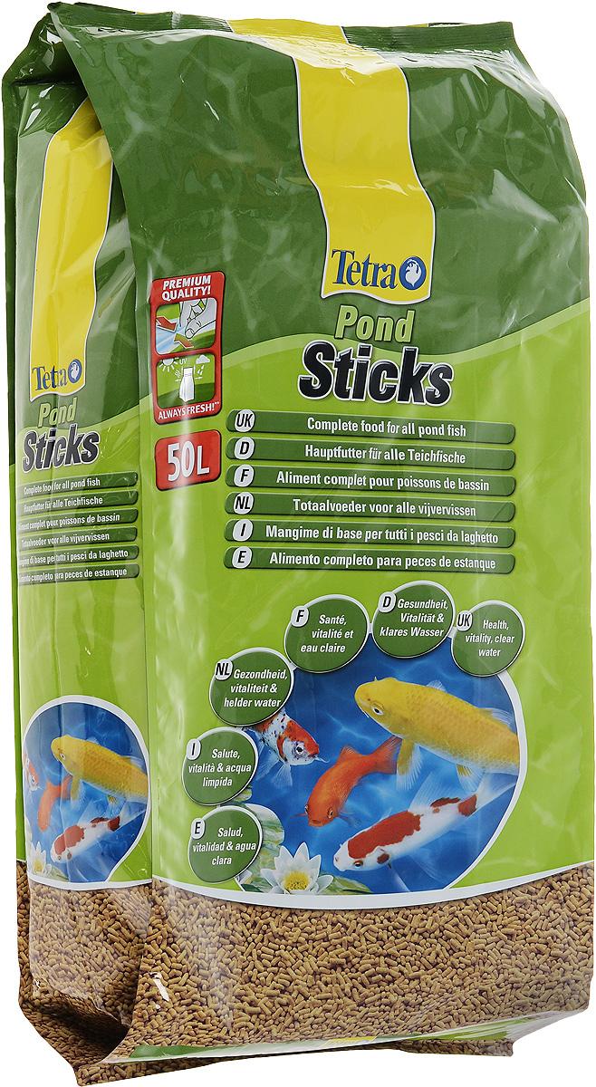 Корм сухой Tetra Pond. Sticks для прудовых рыб, палочки, 50 л (5,25 кг)241602Tetra Pond. Sticks - это основной корм для рыб, в виде плавающих на поверхности воды палочек, который содержит все необходимые питательные вещества, клетчатку, минералы, микроэлементы и витамины для полноценного и биологически сбалансированного питания. Запатентованная BioActive формула обеспечивает высокую устойчивость к заболеваниям, придает энергию и жизнеспособность. Особенности Tetra Pond. Sticks: уникальная рецептура и качество сырья предотвращают симптомы недостаточности связанные с питанием, легко усваиваемый корм благодаря высокой биологической ценности питательных веществ, высокая устойчивость к заболеваниям благодаря оптимизированной питательной формуле, улучшение качества воды за счет уменьшения количества добавленных фосфатов на 25 %, идеально подходит для ежедневного питания прудовых рыб. Рекомендации по кормлению: кормить не менее 2-3 раз в день в таком количестве, которое рыбы могут съесть в течение...