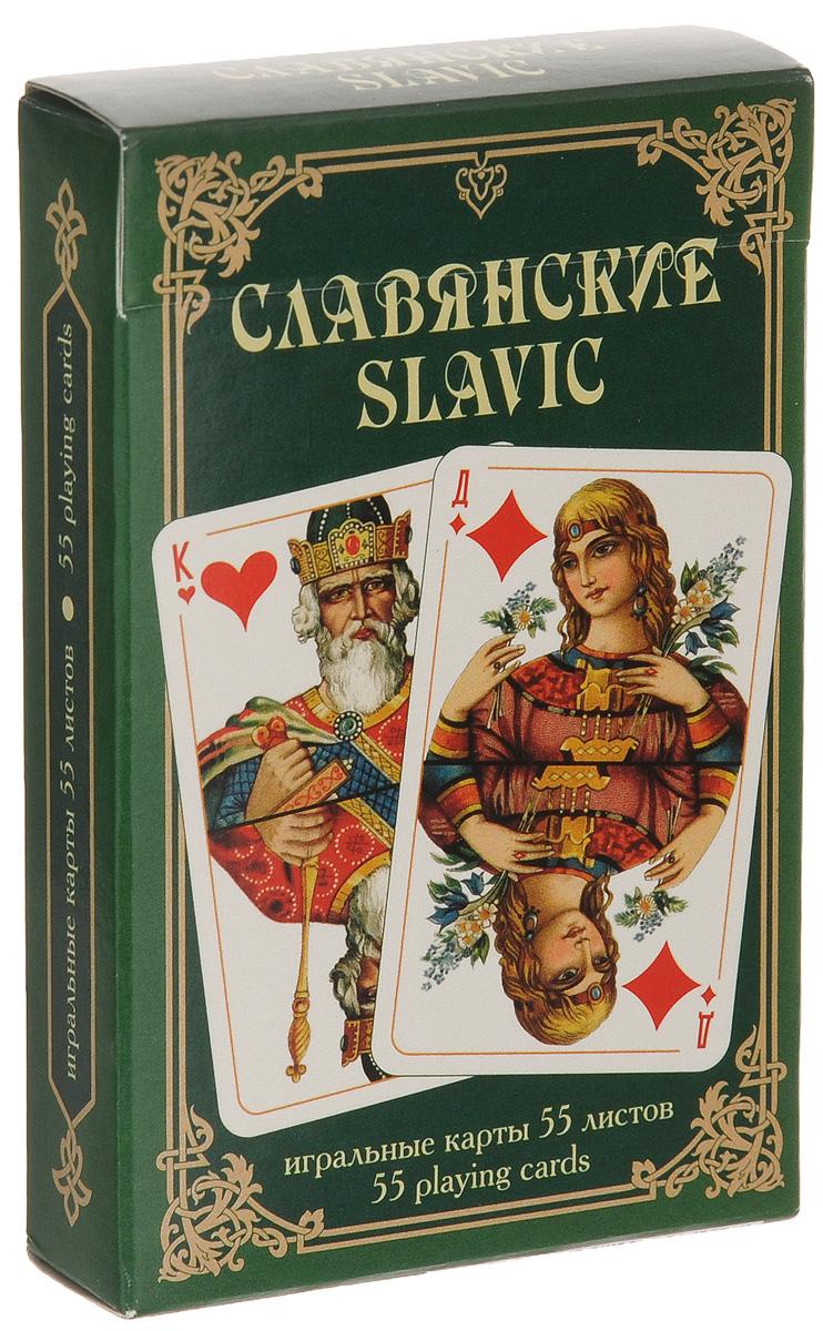 Карты игральные Piatnik Славянские, цвет: зеленый, 55 карт1343_зеленыйИгральные карты Piatnik Славянские с изображением на рубашке картины Васнецова Витязь на распутье выполнены из картона, имеют гладкую пластиковую поверхность и подходят для многих карточных игр. В комплекте 55 карт.