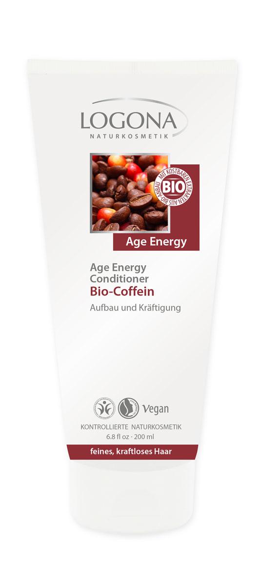 LOGONA Age Energy Кондиционер с Био-Кофеином 200 мл30246Интенсивно питает и увлажняет. Кондиционер LOGONA Age Energy с био-кофеином поможет восстановить и укрепить ослабленные волосы. Природная формула с био-кофеином, экстрактом годжи и граната, а также природным бетаином придает волосам объем и эластичность, дарит им мягкость и гладкость. Ценные органические масла, такие как масло семян лопуха, делают волосы послушными и укрепляют их от корней до кончиков.